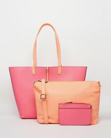 Fashion Shop - Oasis Primrose Reversible Shopper - Pink