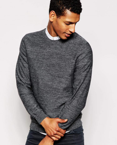 Fashion Shop - PS by Paul Smith Jumper with Marl - Grey