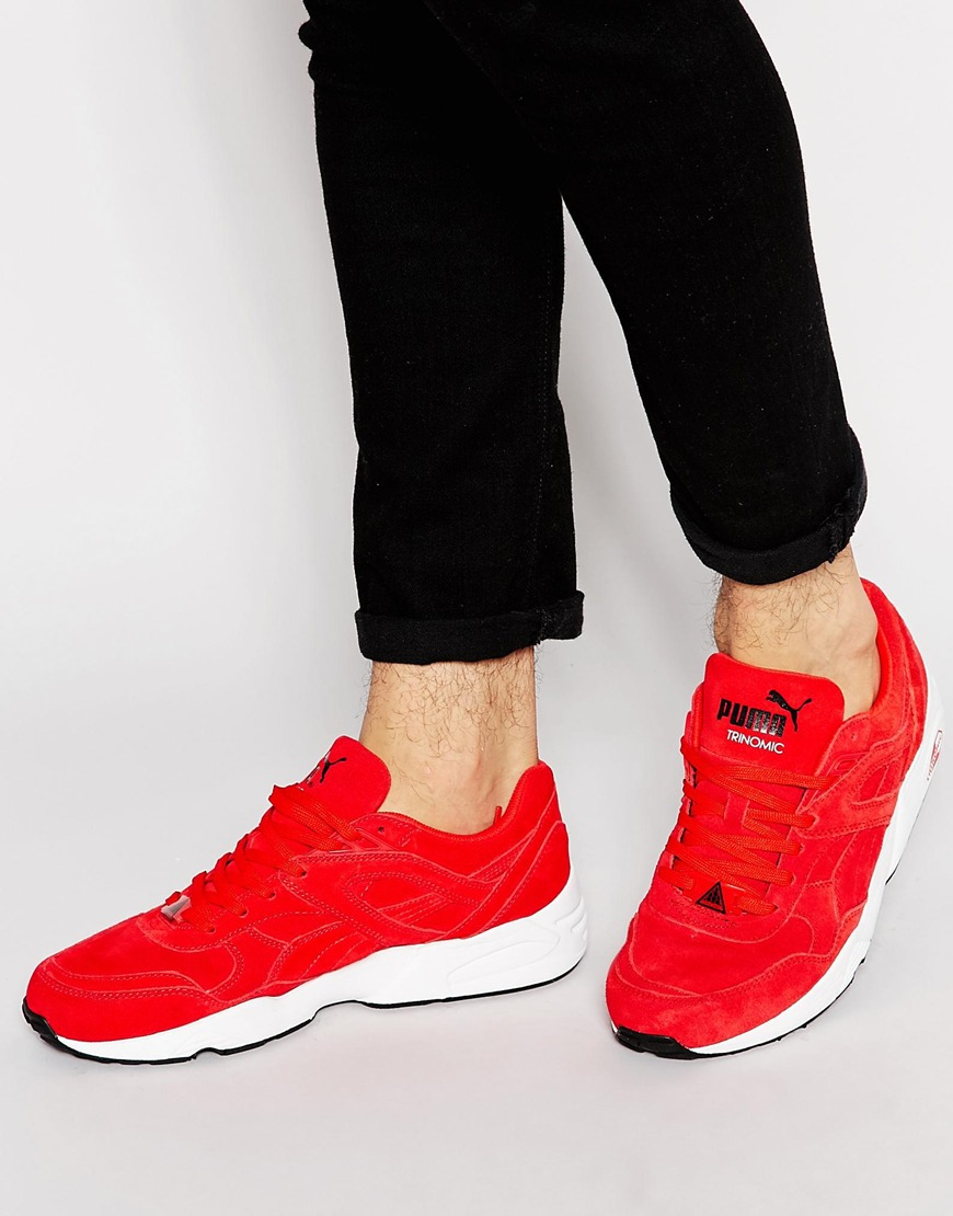 Fashion Shop Puma R698 Suede Trainers - Red Fashion Shop b54d282a6d7d
