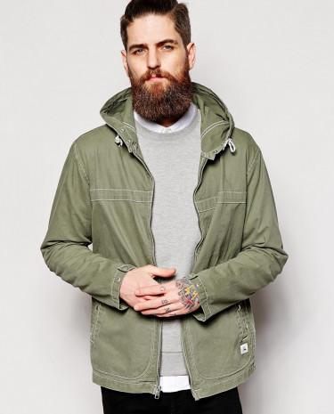 Fashion Shop - Quiksilver Jacket in Stonewashed Cotton - Green