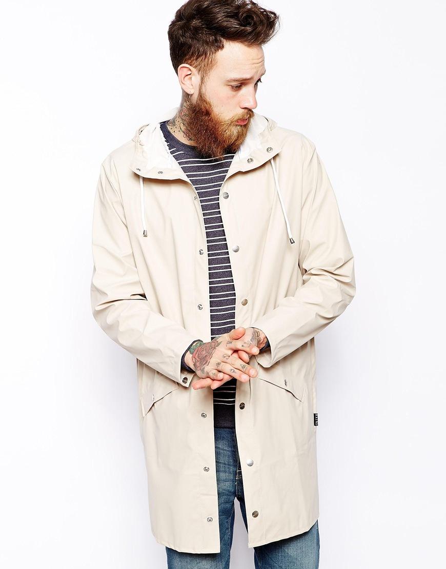 0c799be2 Fashion Shop Rains Long Waterproof Jacket - Stone Fashion Shop