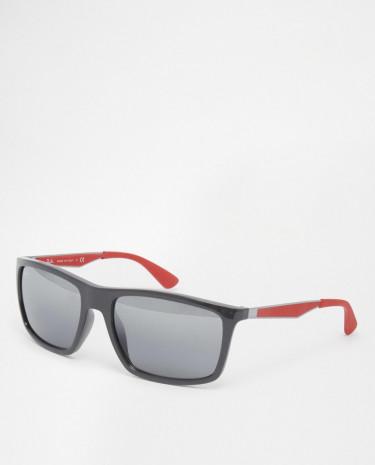 Fashion Shop - Ray-Ban Wayfarer Sunglasses With Flash Lens 0RB4228 61858858 - Grey