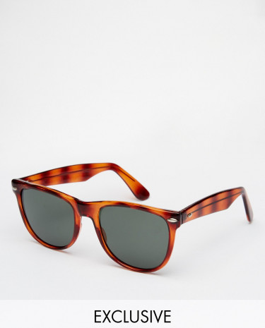 Fashion Shop - Reclaimed Vintage Wayfarer Sunglasses - Brown