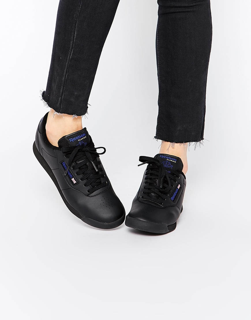 verkauft erstklassige Qualität sehr günstig Fashion Shop Reebok Princess Spirit Black Low Top Trainers ...