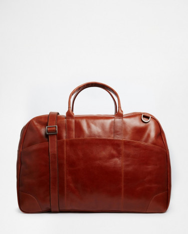 Fashion Shop - Royal RepubliQ Explorer Weekender Leather Holdall - Brown