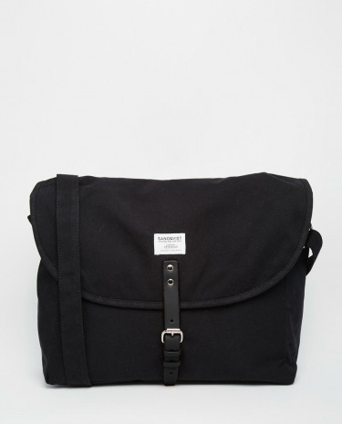 Fashion Shop - Sandqvist Ground Jack Messenger Bag - Black