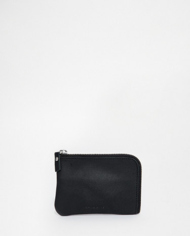 Fashion Shop - Sandqvist Penny Zip Leather Wallet - Black