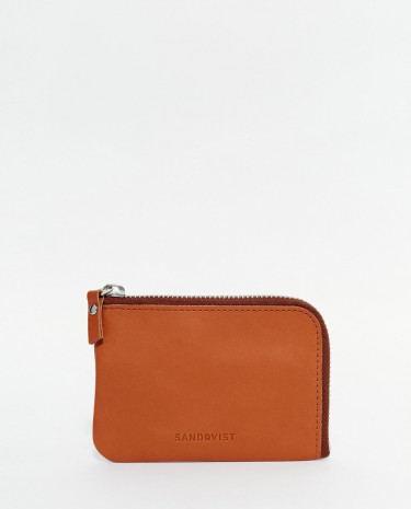 Fashion Shop - Sandqvist Penny Zip Leather Wallet - Brown