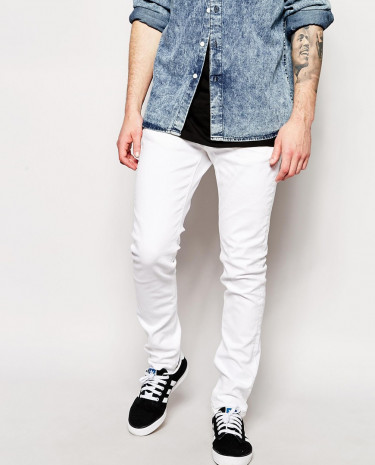 Fashion Shop - Selected White Skinny Jeans - White
