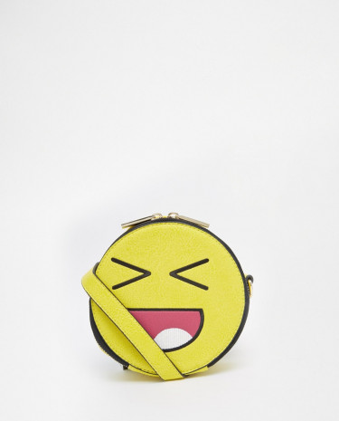 Fashion Shop - Skinnydip Emoji Face Across Body Bag - Yellow