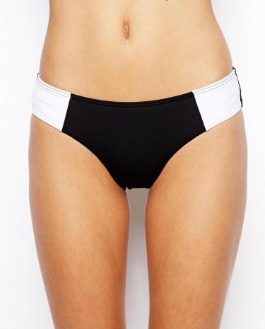 Fashion Shop - Sunseeker Colour Block Hipster Bikini Bottom - Black