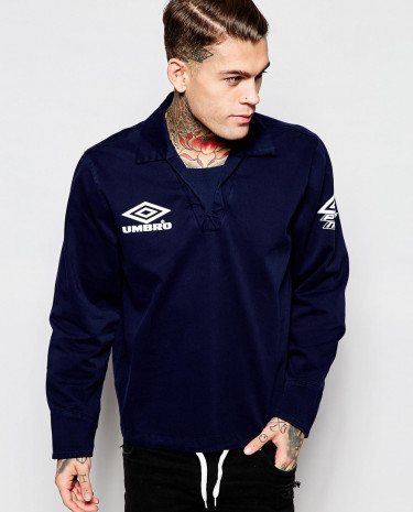 Fashion Shop - Umbro Classic Overhead Jacket - Navy