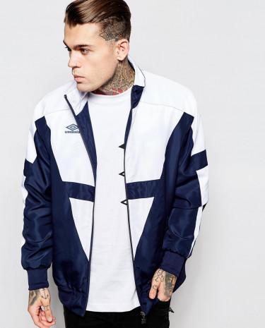 Fashion Shop - Umbro Windbreaker Jacket - Navywhite