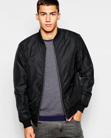 Fashion Shop - United Colors of Benetton Bomber Jacket - Black