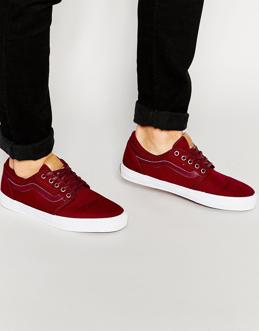 90c6df279614 Fashion Shop Vans LXVI Trig Canvas Plimsolls - Red Fashion Shop
