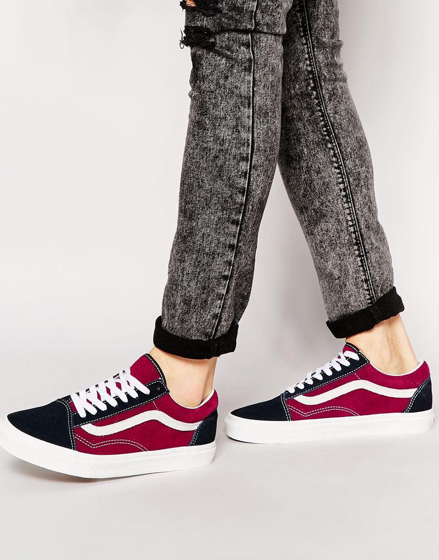 21c3d5741b5 Fashion Shop Vans Old Skool Suede Trainers - Red Fashion Shop