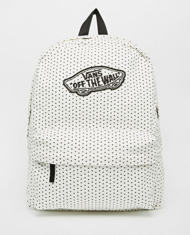 Fashion Shop - Vans Realm Backpack in Heart Print - Classicwhite