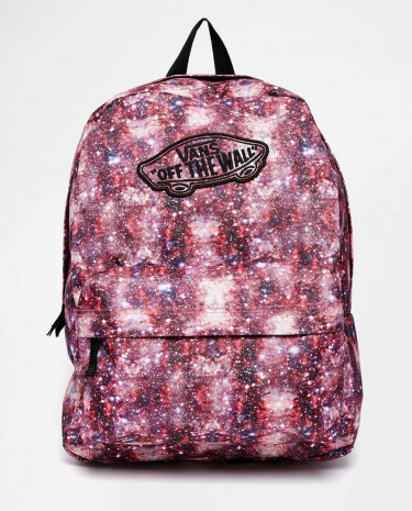 Fashion Shop - Vans Realm Backpack in Space Print - Blackcoral