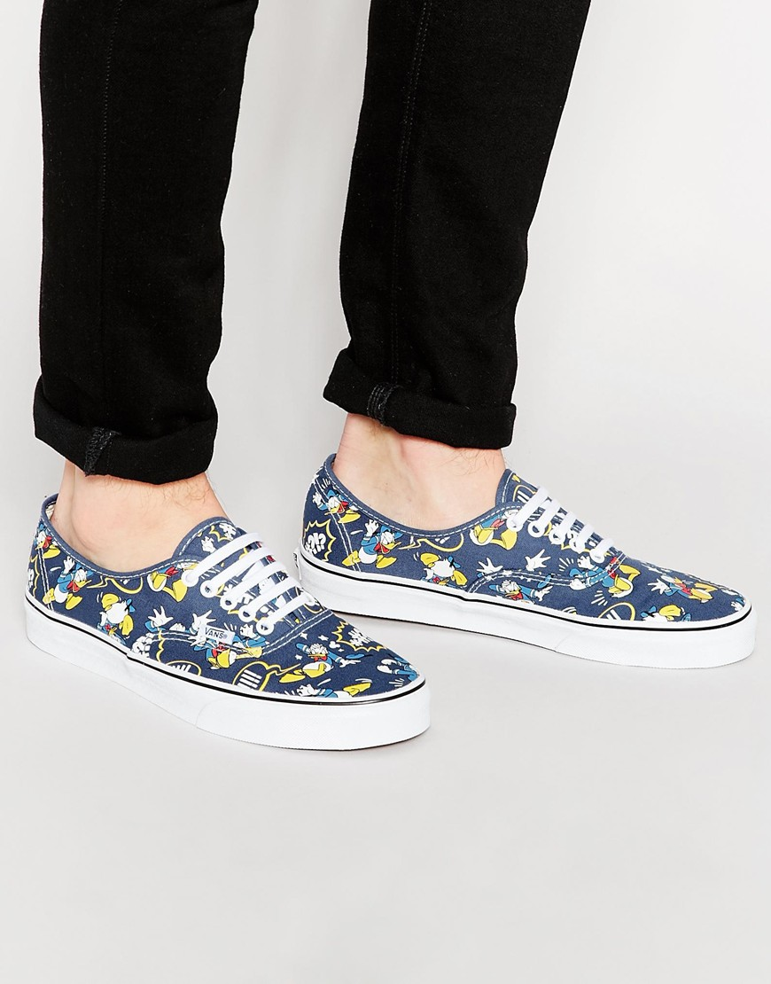 3e09bbd497402e Fashion Shop Vans x Disney Authentic Canvas Plimsolls - Blue Fashion ...