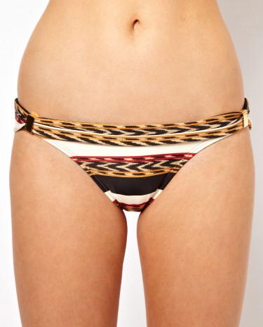 Fashion Shop - Vix Angola Tube Bikini Bottom With Sliders - Redmultiprint