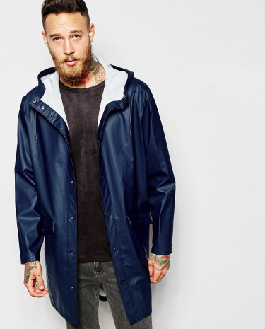 Fashion Shop - Weekday Hooded Raincoat Sune Fisherman - Navy