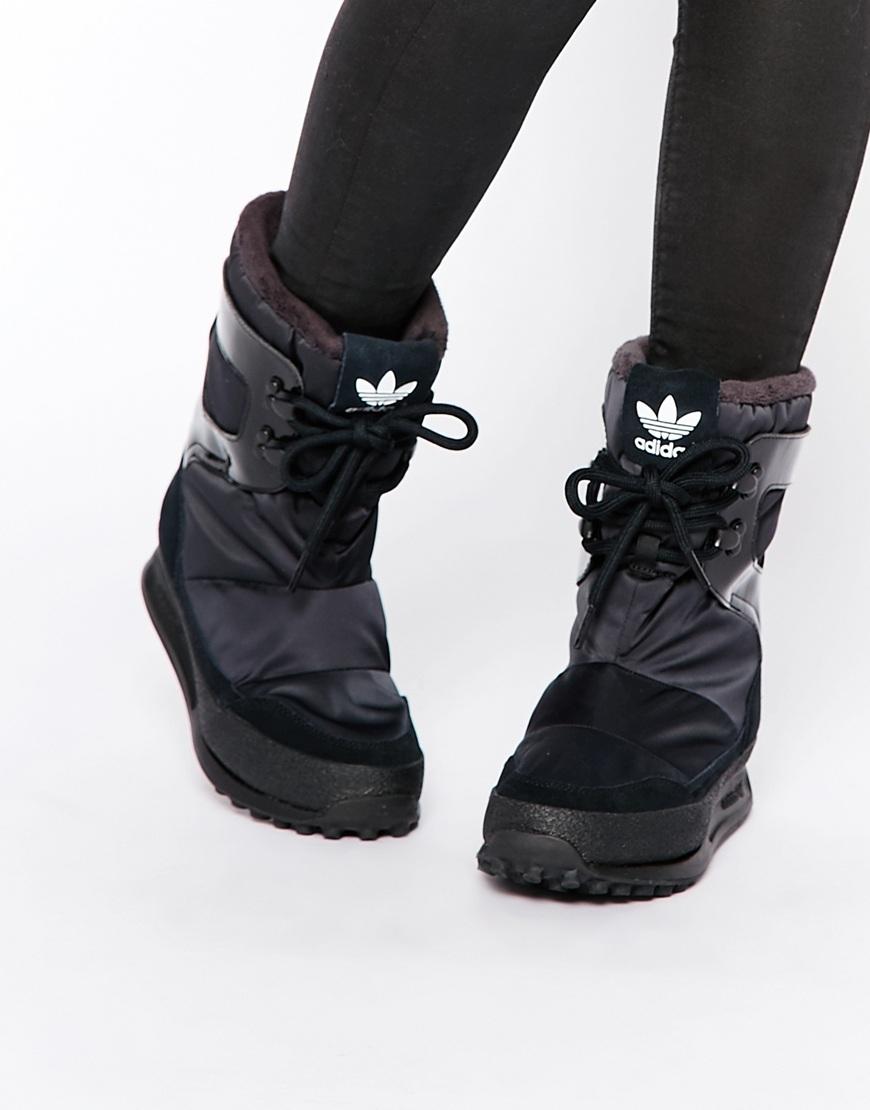 Fashion Shop adidas Originals Snowrush Black Snow Boots - Black ... 1db467226d