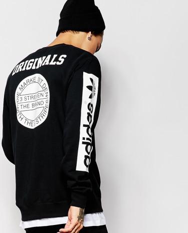Fashion Shop - adidas Originals Stars Sweatshirt AB9577 - Black
