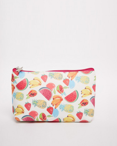 Fashion Shop - Fruit Print Make-Up Bag - Fruitprint