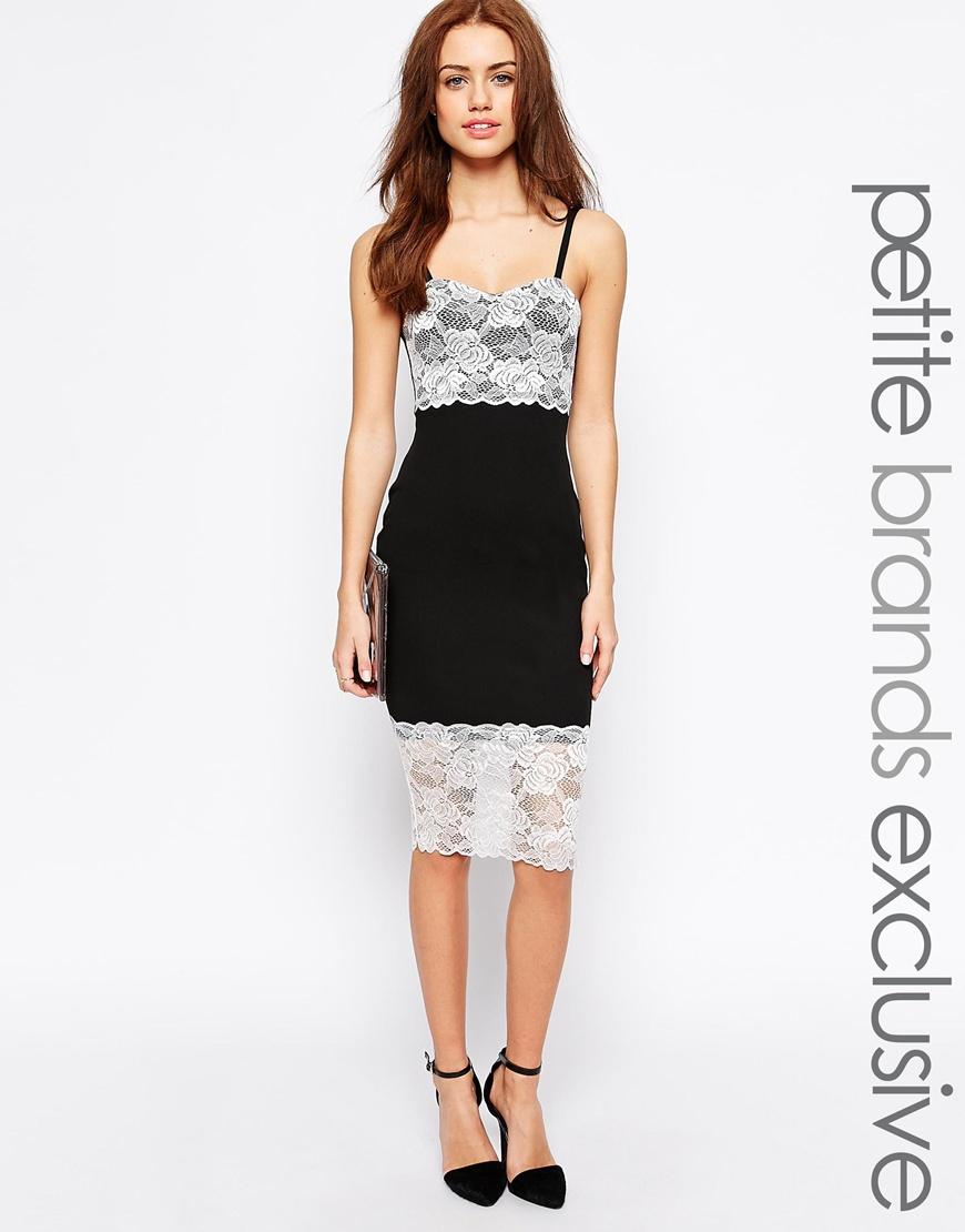 6f9db0a7895 Fashion Shop - Lipstick Boutique Petite Lace Detail Pencil Dress - Black