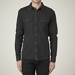 Fashion Shop - COVER UP LS SHIRT COATED BLACK