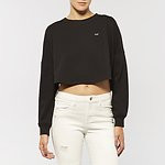 Fashion Shop - CUT BACK CREW JUMPER STORM BLACK