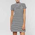 Fashion Shop - EARN YOUR STRIPES DRESS NAVY / WHITE