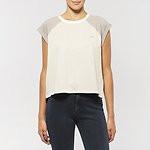 Fashion Shop - NO BRAINER RAGLAN T-SHIRT GREY WHITE