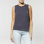 Fashion Shop - NO BRAINER STRIPE TANK NAVY/WHITE