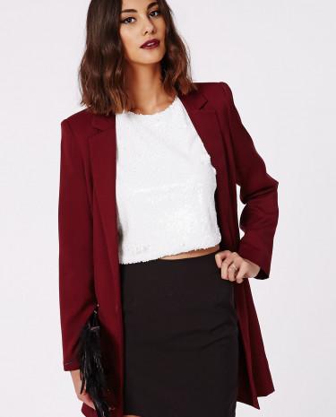 Fashion Shop - Curve Hem Mini Skirt Black