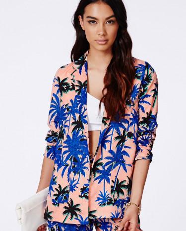 Fashion Shop - Print Blazer Multi