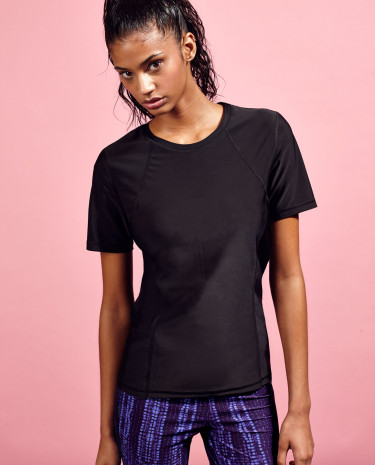 Fashion Shop - Short Sleeve Gym T-Shirt Black