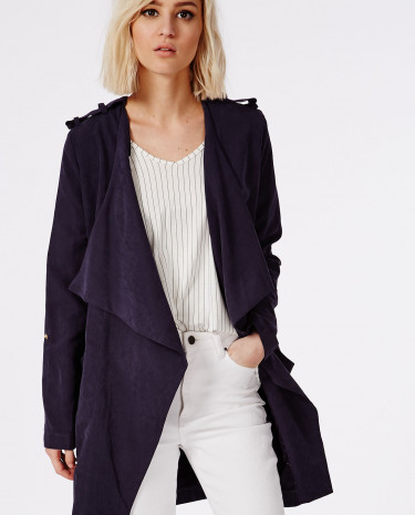 Fashion Shop - Waterfall Lightweight Jacket Navy