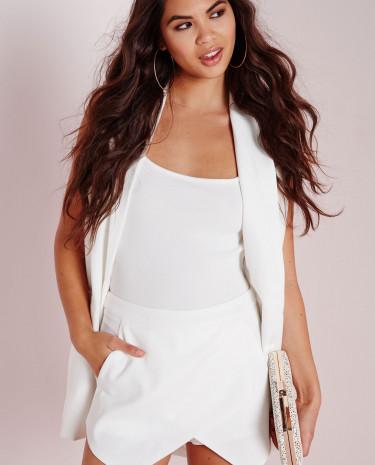 Fashion Shop - White  Skort