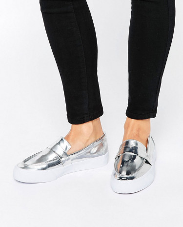 Fashion Shop - ASOS DARE ME Loafer Sneakers - Gold