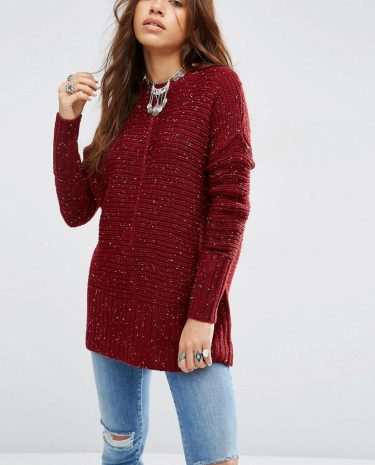 Fashion Shop - ASOS Ultimate Chunky Jumper - Red