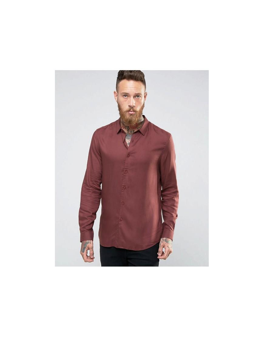 Fashion Shop - ASOS Viscose Shirt In Rust - Tan