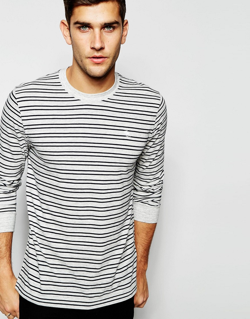 Abercrombie fitch long sleeved fine stripe t shirt for Abercrombie and fitch t shirts online shopping