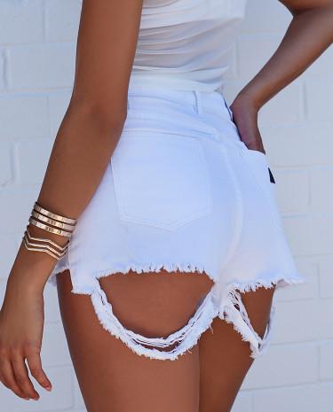 Fashion Shop - Abrand High Relaxed Short Gaga White