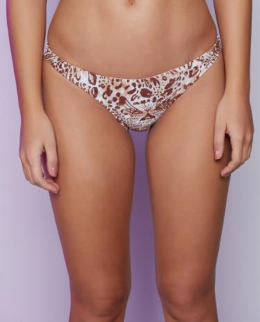 Fashion Shop - Afends Leopard Basic Brief Bikini Bottom