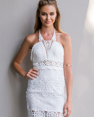 Fashion Shop - California Dreaming Dress White
