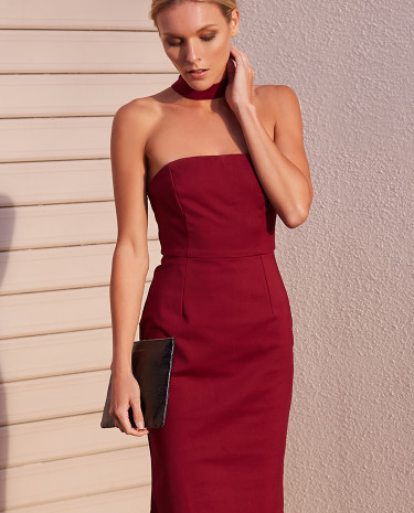 Fashion Shop - Falling Star Party Dress Merlot