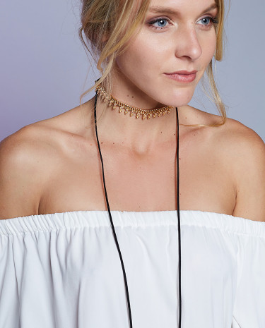 Fashion Shop - Frankly My Dear Addison Necklace Black And Gold