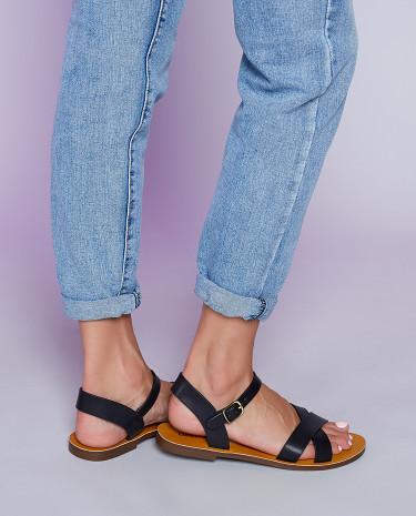 Fashion Shop - Lipstik Bamboo Sandals Black