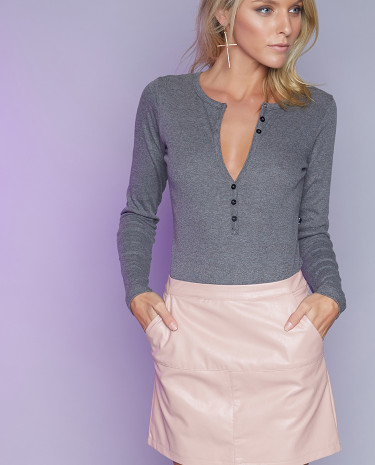 Fashion Shop - Raw Hide Mini Skirt Blush